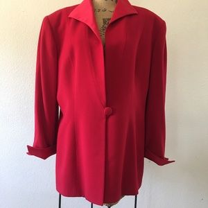 Christian Dior red wool single button blazer
